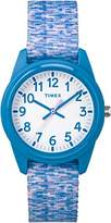 Timex Children's Quartz Watch with White Dial Analogue Display and Multicolour Nylon Strap TW7C12100