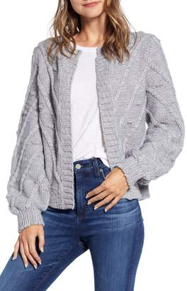Lucky Brand Bobble & Cable Knit Cardigan