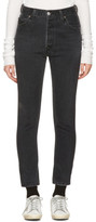 RE/DONE Re-done Black High-rise Ankle Crop Jeans