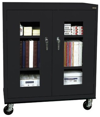 Transport 2 Door Storage Cabinet Sandusky Cabinets Color: Black