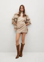 Thumbnail for your product : MANGO Skin effect mini skirt