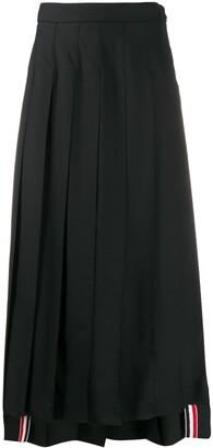 Thom Browne High-Waisted Pleated Midi Skirt