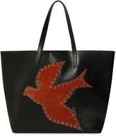 RED Valentino Leather & Suede Robin Tote Bag