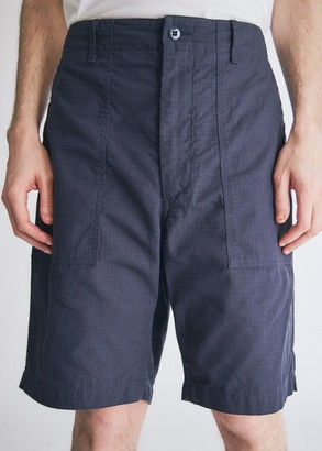 Engineered Garments Men's Fatigue Short in Dark Navy, Size Small | 100% Cotton
