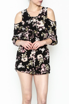 Love Tree Cold Shoulder Romper
