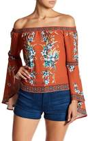 Flying Tomato Floral Bell Sleeve Blouse