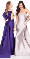 Terani Couture Strapless Double Bow Evening Gown