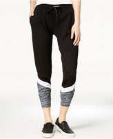 Material Girl Active Juniors' Printed Colorblocked Jogger Pants, Only at Macy's