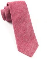 The Tie Bar Wine Flannel Herringbone Tie