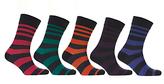 John Lewis Rugby Stripe Socks, Pack Of 5, Multi