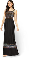 New York & Co. Embroidered Maxi Dress - Black