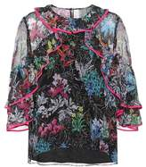 Peter Pilotto Floral-printed silk ruffle blouse