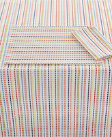 "Fiesta Ditsy Stripe Collection Cotton 70"" Round Tablecloth"