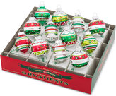 Christopher Radko Shiny Brite Holiday Splendor Rounds & Shapes Boxed Ornaments, 12-Pc. Set