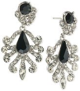 ABS by Allen Schwartz Silver-Tone Contrast Crystal Earrings