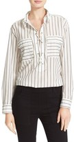 Equipment Knox Lace-Up Stripe Shirt