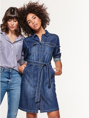 M&Co Denim long sleeve shirt dress