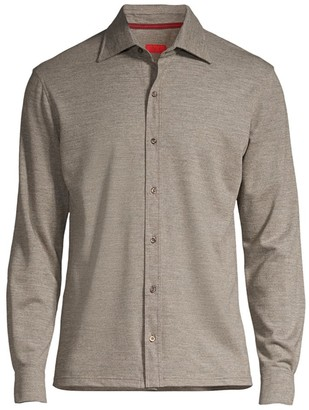 Isaia Classic-Fit Long-Sleeve Cotton Shirt