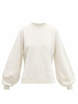 Ganni Oversized Isoli Sweatshirt In Egret - XS