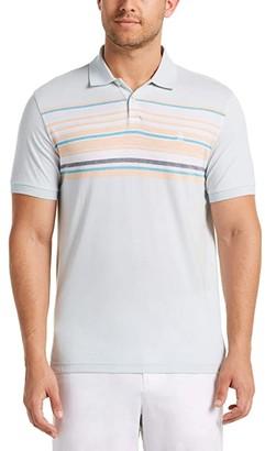 Original Penguin Engineered Stripe Short Sleeve Polo Shirt (Ballad Blue) Men's Clothing