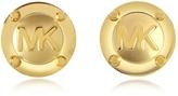 Michael Kors Heritage Signature Golden Stud Earrings