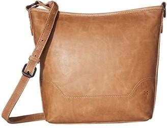 Frye Melissa Small Hobo (Beige) Handbags