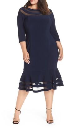 Xscape Evenings Flounce Midi Dress