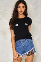Nasty Gal nastygal Go Undercover Fishnet Denim Shorts