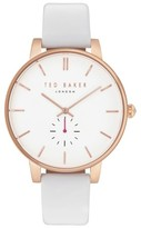 Ted Baker Women's Olivia Round Leather Strap Watch, 40Mm
