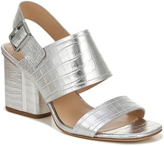 Via Spiga Harriett Reptile Embossed Leather Sandal