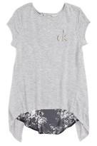 Calvin Klein Girl's Tie Back Knit Top