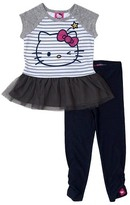 Hello Kitty Baby Girls' Top And Bottom Set - Heather Grey