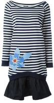 Jil Sander Navy flared hem striped dress