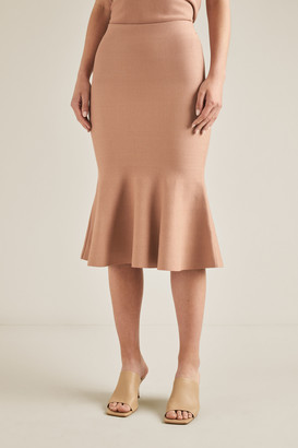 Seed Heritage Flutted Crepe Knit Skirt