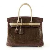 Hermes pristine (PR Grand Marriage Matte Crocodile Ostrich & Lizard 30cm Birkin Bag - Limited Edition