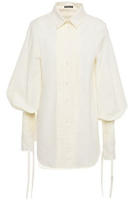 Ann Demeulemeester Pintucked Cotton-jacquard Shirt
