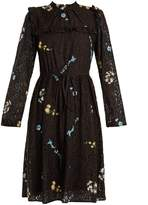No.21 NO. 21 Floral-embroidered lace dress