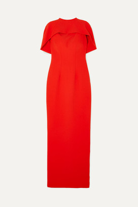 Safiyaa Kalika Cape-effect Crepe Gown - Red
