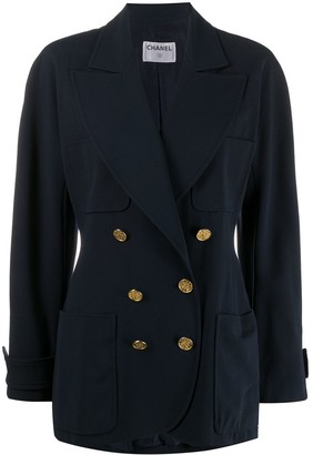 Chanel Pre Owned 1980s Double-Breasted Loose-Fit Blazer