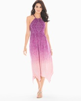 Soma Intimates Scarf Hem Midi Halter Dress