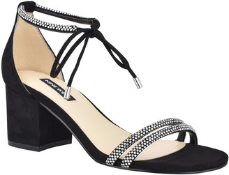 Nine West Keiko Embellished Block Heel Sandal