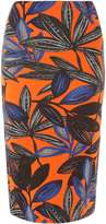 Orange Lily Pencil Skirt