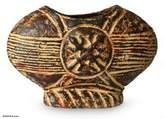 Rustic Ceramic Vase, 'Unity Fruit'