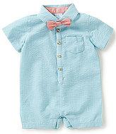 Edgehill Collection Baby Boys Newborn-6 Months Striped Seersucker Shortall