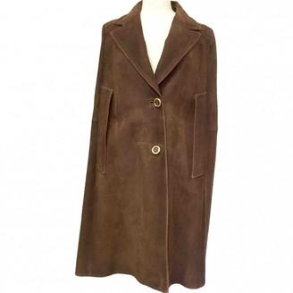 Miu Miu Brown Suede Coats