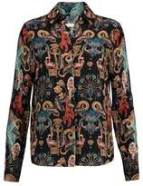 Matthew Williamson Regal Monkey Printed Silk Shirt