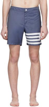 Thom Browne Navy 4-Bar Tech Swim Shorts