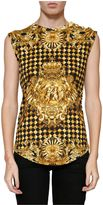 Balmain Checked Print Tank Top