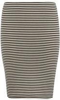 Petite stripe tube skirt