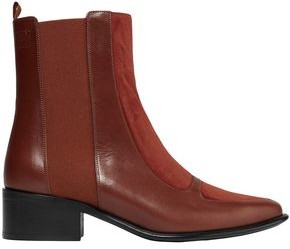 Loewe Leather And Suede Ankle Boots